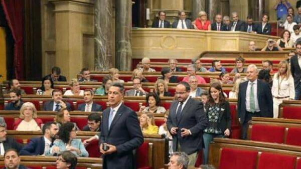 El Parlamento catalán el día que se aprobó la ley del referéndum