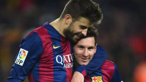 Gerard Piqué y Leo Messi en un partido del Barça