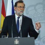 Mariano Rajoy durante su comparecencia este sábado