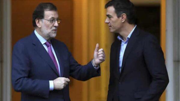Mariano Rajoy y Pedro Sánchez en un encuentro en La Moncloa