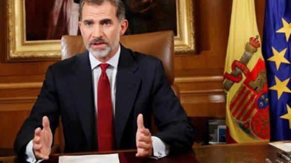 El Rey durante su discurso sobre Cataluña