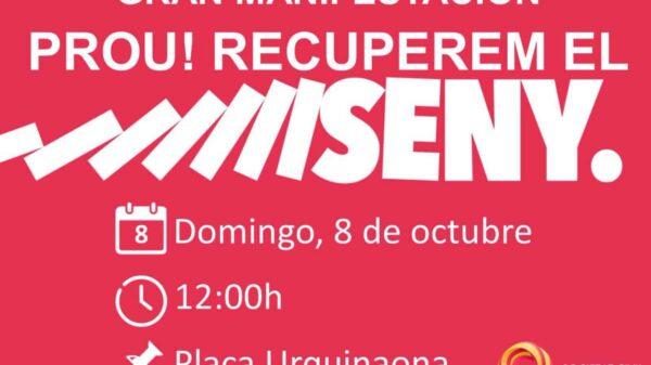 Cartel de la manifestación convocada por Societat Civil Catalana
