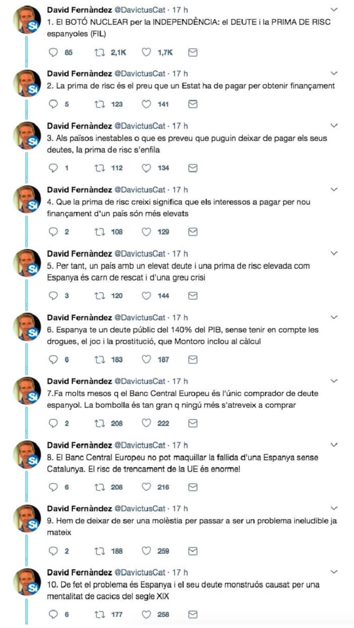 10 de los tuits de David Fernández
