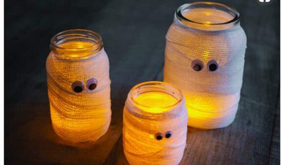 Velas decoradas como momias