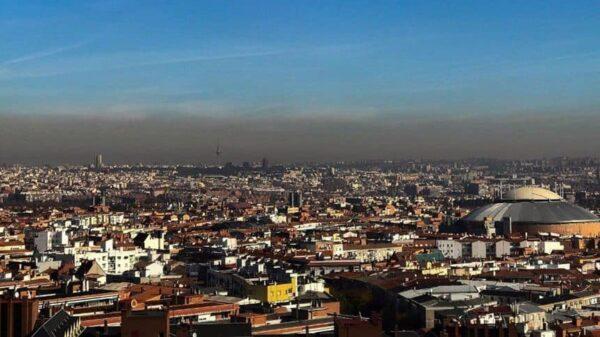 La boina de contaminación sobre Madrid