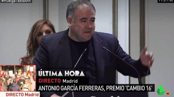Antonio García Ferreras durante su discurso