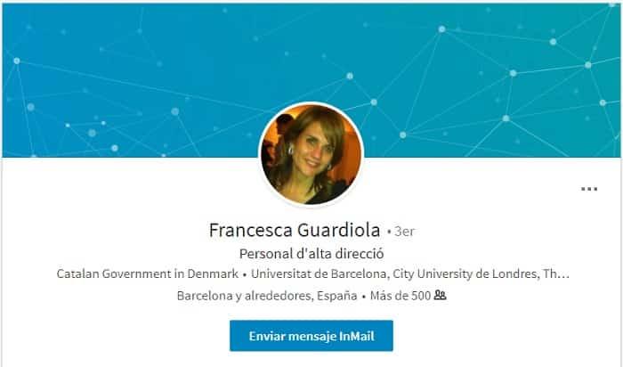 Perfil en Linkedin de Francesca Guardiola
