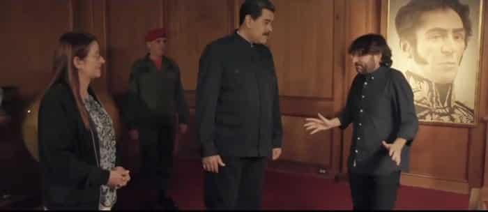 Nicolás Maduro y Jordi Èvole justo antes de su entrevista