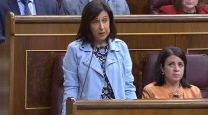 Margarita Robles durante su intervención en el Congreso este miércoles
