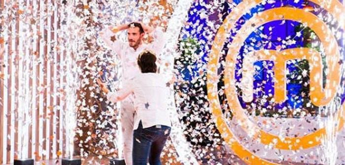 Saúl Craviotto al ganar 'Masterchef Celebrity 2'