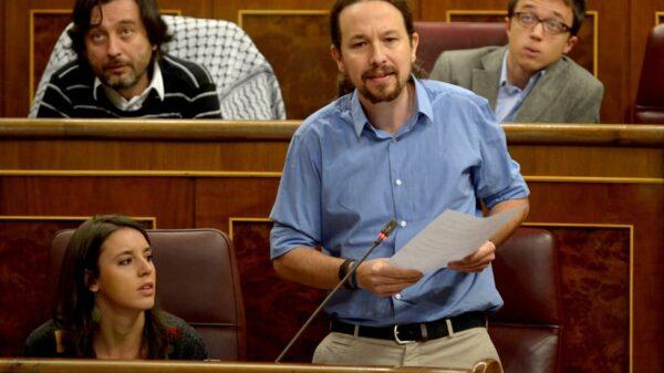 Pablo Iglesias durante su intervención en el Congreso este miércoles