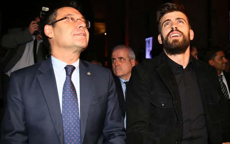 Josep Maria Bartomeu y Gerard Piqué
