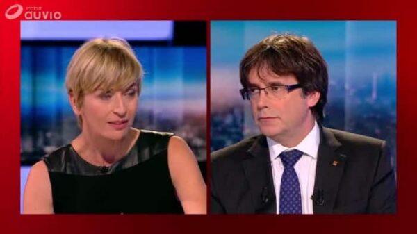Puigdemont en la televisión belga
