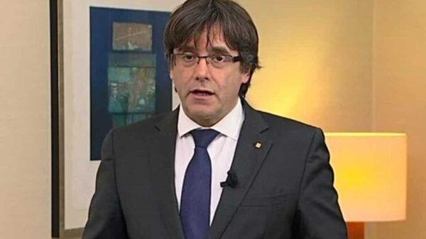 Carles Puigdemont durante su mensaje desde Bruselas