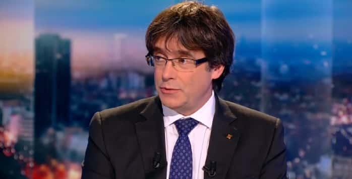 Carles Puigdemont en la televisión belga