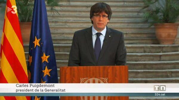 Puigdemont citado como presidente de la Generalitat en TV3