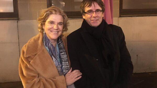 Pilar Rahola y Carles Puigdemont en Bruselas