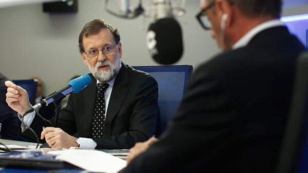 Mariano Rajoy y Carlos Herrera durante la entrevista en la COPE