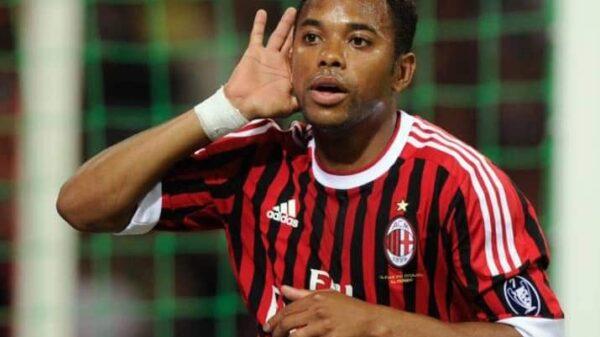 El futbolista brasileño Robinho en un partido del AC Milan