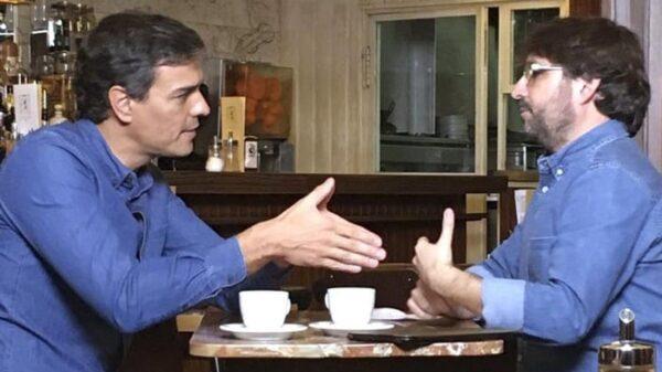 Pedro Sánchez y Jordi Évole