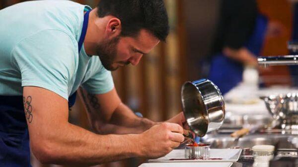 Saúl Craviotto en las cocinas de 'Masterchef Celebrity'