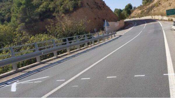 Pintada independentista entre Teruel y Cataluña