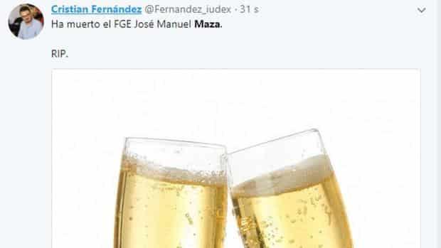 El tuit de Cristian Fernández