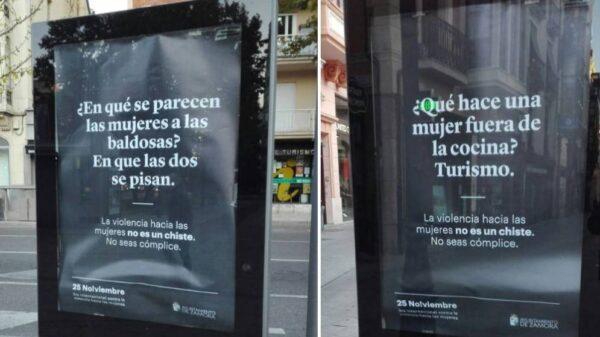 Dos de los carteles de la campaña del Ayuntamiento de Zamora contra la violencia de género