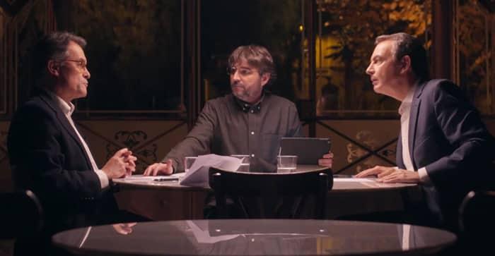 Rodríguez Zapatero y Artur Mas en 'Salvados''