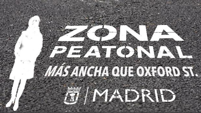 La pintada con la que Ahora Madrid se burla de Aguirre