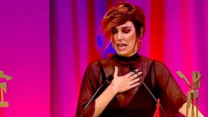 La actriz Blanca Suárez recoge su premio Ondas