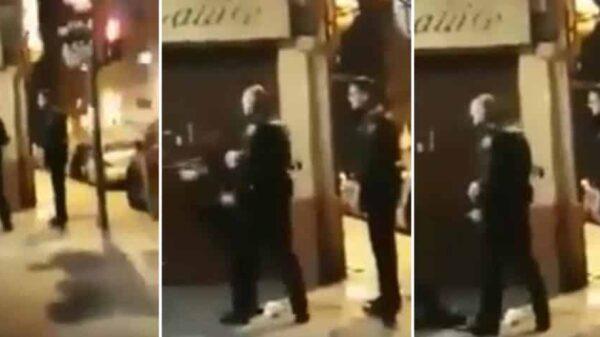 Secuencia del bofetón de un agente a una mujer en Valencia