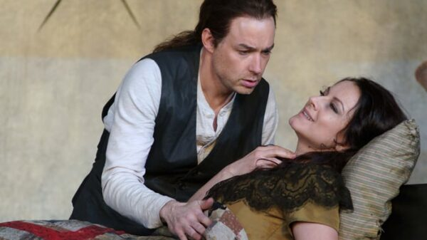 La soprano Anita Hartig ('Mimi') y el tenor Stephen Costello ('Rodolfo')