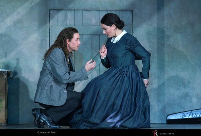 La soprano Anita Hartig ('Mimì') y el tenor Stephen Costello ('Rodolfo')