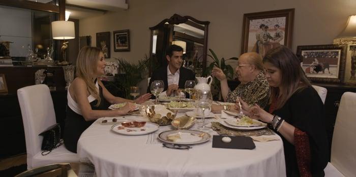 Ana Obregón, Víctor Janeiro, Rappel y Lucía Etxebarría en 'Ven a cenar conmigo'