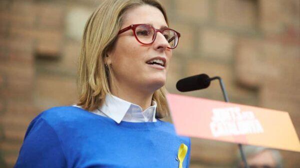 Elsa Artadi durante un mitin de Junts per Catalunya