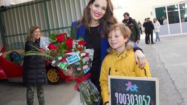 Eva González y Fernando, concursante de 'Masterchef Junior'