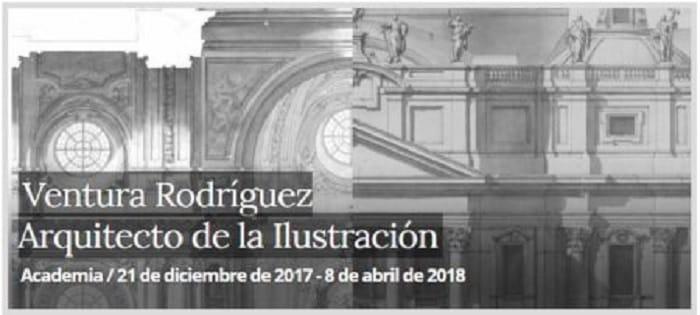 Cartel de la exposición sobre Ventura Rodríguez