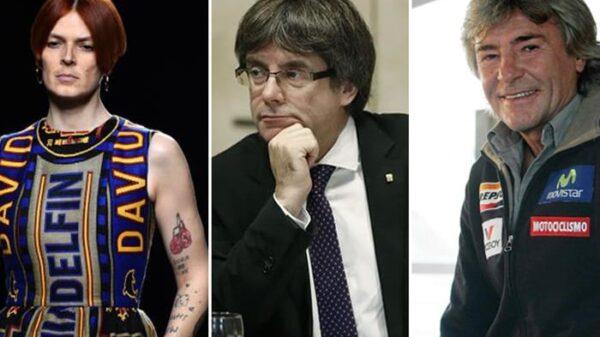 Bimba Bosé, Carles Puigdemont y Ángel Nieto