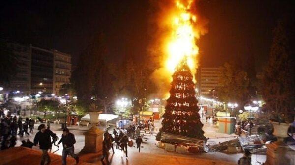 La imagen con la que Izquierda Unid Madrid ha felicitado las Navidades.