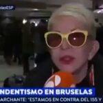 Karmele Marchante en Bruselas apoyando a Puigdemont
