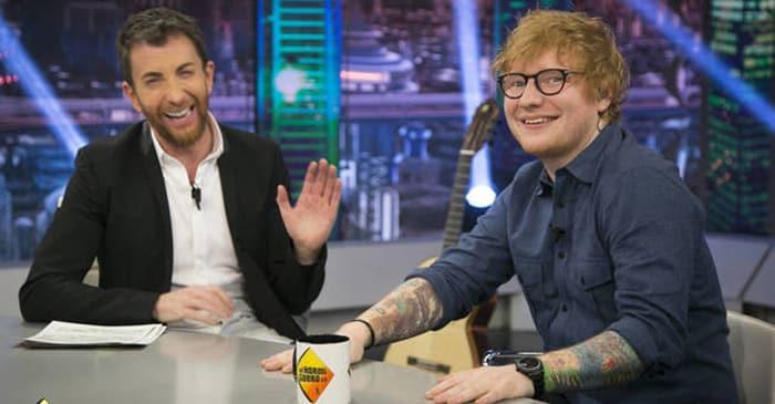 Pablo Motos y Ed Sheeran