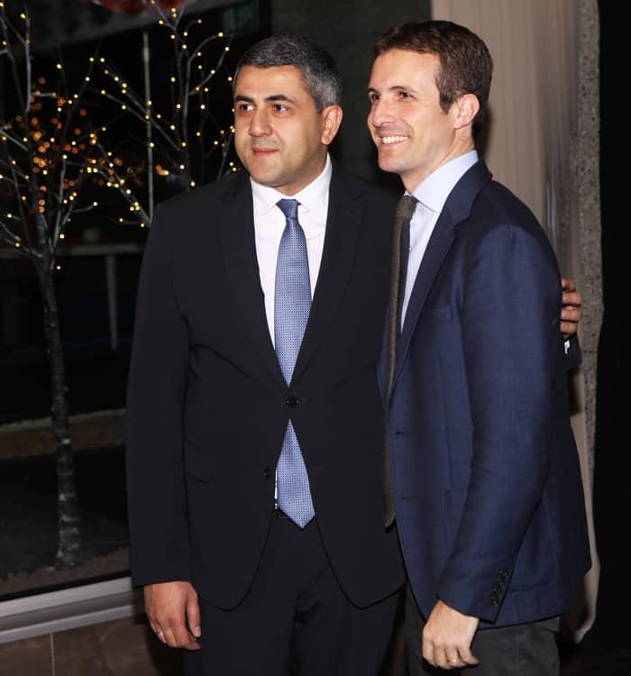 Zurab Pololikashvili y Pablo Casado