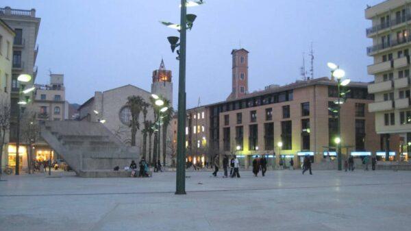 La plaza de la Constitución de Gerona