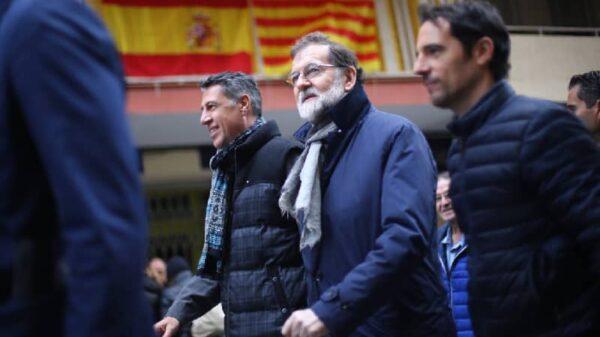 Mariano Rajoy paseando por Catelldefels junto a Xavier García Albiol y Manuel Reyes