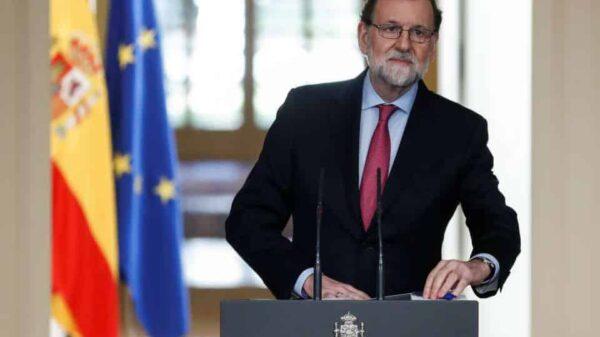 Mariano Rajoy durante su comparecencia en La Moncloa este viernes
