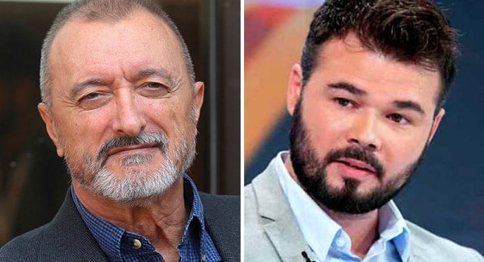 Arturo Pérez-Reverte y Gabriel Rufián