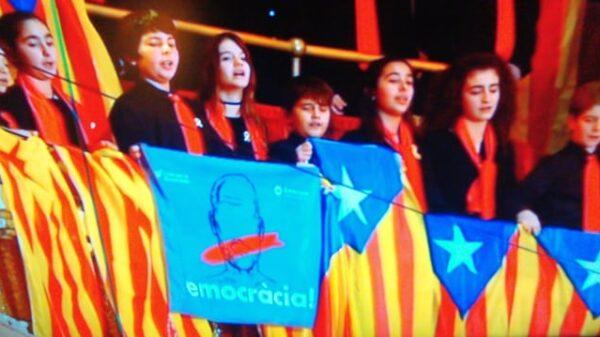 Momento del concierto de San Esteban en el Palau