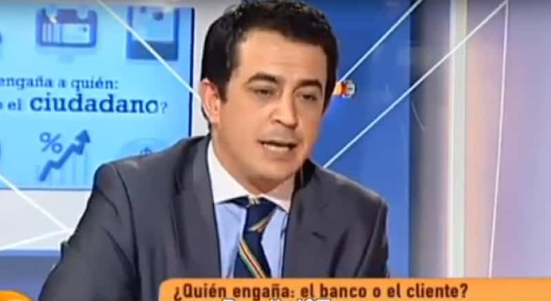 Simón Pérez en una tertulia de Intereconomía