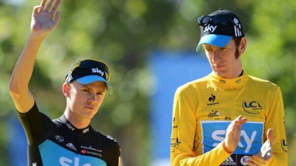 Froome y Wiggins, durante la victoria del segundo en el Tour 2012